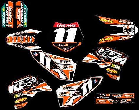 KTM 50  Black/Orange Graphics kit (2009-2015)