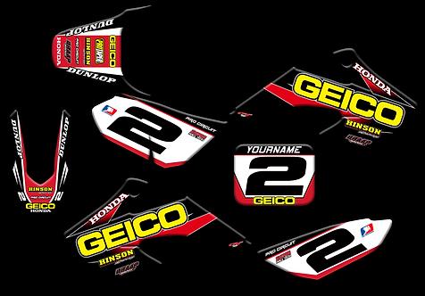 Honda CRF-50  Geico Graphics Kit (2004-2020)