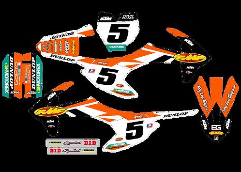 KTM 50  / Dungy/Black Graphics kit (2016-2020)