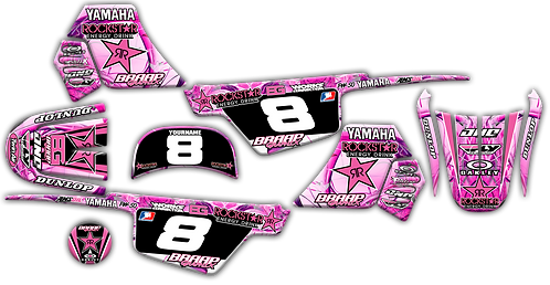 PW-50 Pink/Rock1 Graphics Kit