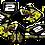 Thumbnail: Honda CRF-50  RS Graphics Kit (2004-2020)