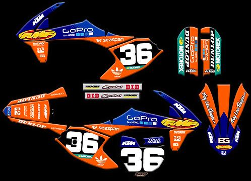 KTM 50  / FMF Blue/Orange (2016-2020)