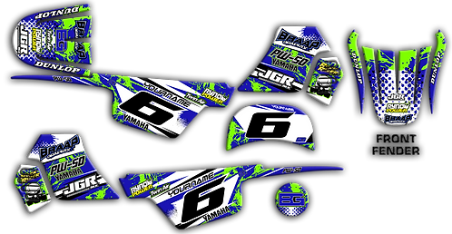 PW-50 Blue/Green Graphics Kit