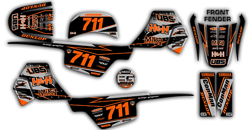 PW-50 Black/Grey Graphics Kit