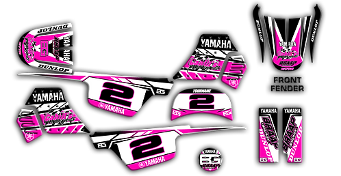 PW-50 Pink Graphics Kit