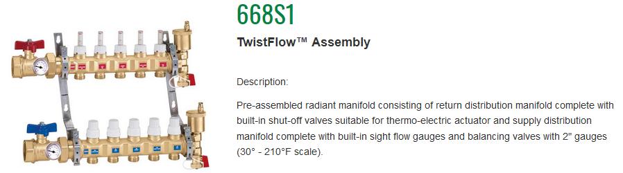 Caleffi TwistFlow Manifolds