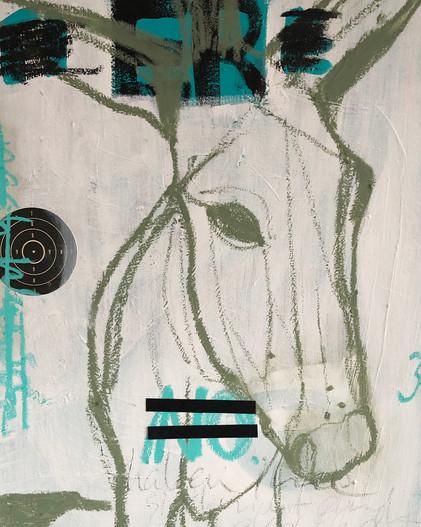 Esel_Acryl und Öl auf Leinwand