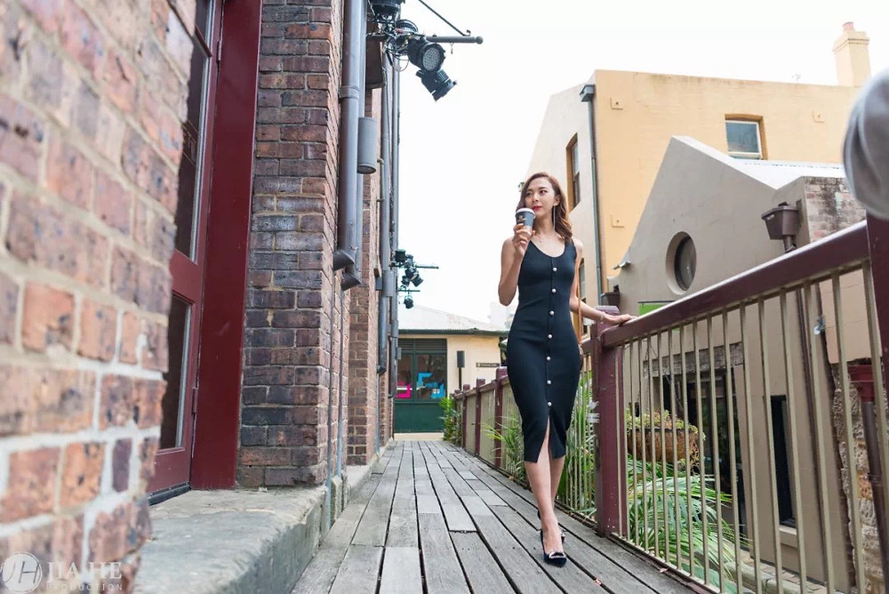 Australia/city/cafe/fashion/beauty/Chinese girl/actress/Jia HE Production