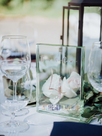 Table #s made by the bride