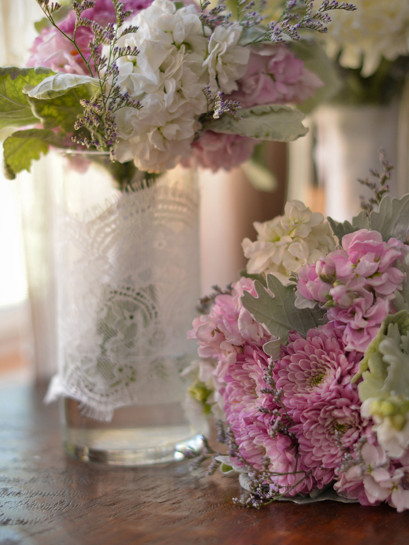 Gorgeous florals by the sister of the groom
