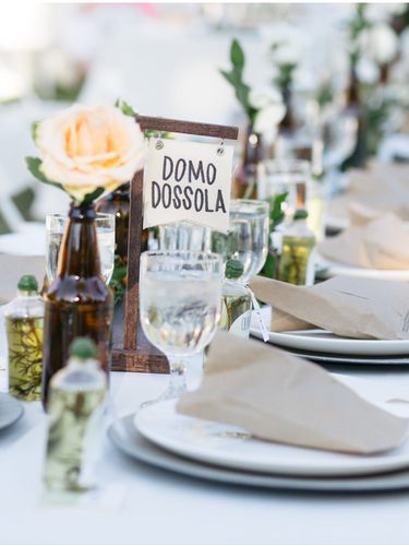 Fun fact, the bride's family is from Domo Dossola