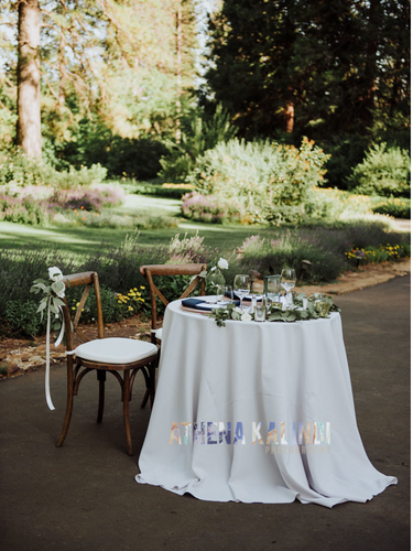 Stunning sweetheart tables