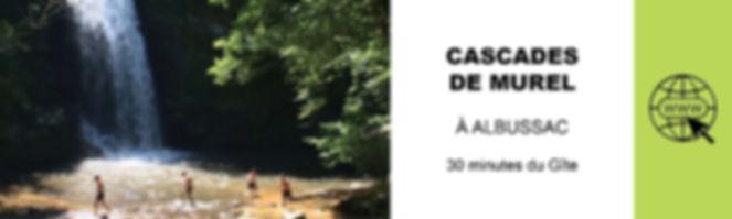 CASCADES DE MUREL A ALBUSSAC TOURISME EN
