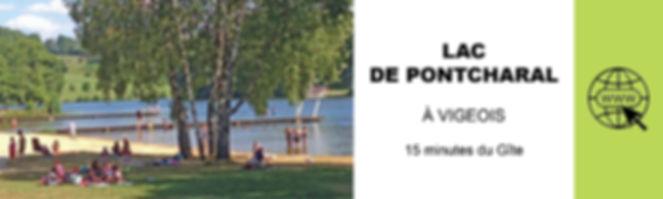 LAC DE PONTCHARAL A VIGEOIS BAIGNADE ET