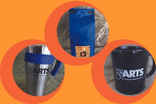 1 lb. Coffee,Mug and Travel Mug