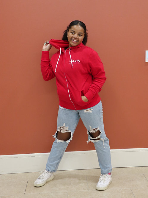 Red Zipper Sweatshirt