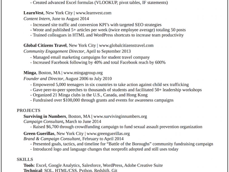 A Resume That Got The Attention of Google, Buzzfeed, and More than 20 Top Startups!