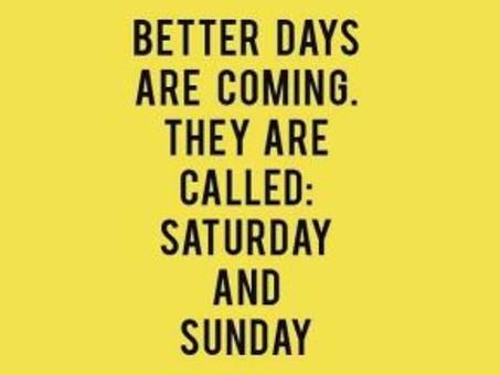 Weekend Planner: July 17