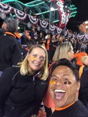 Liz and Jojo celebrating the Giants winning the 2014 World Series