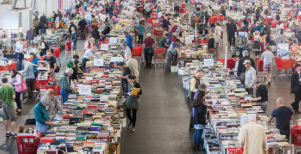 Big Book Sale Crowd