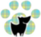 paw logo white outline yellow plaid.png