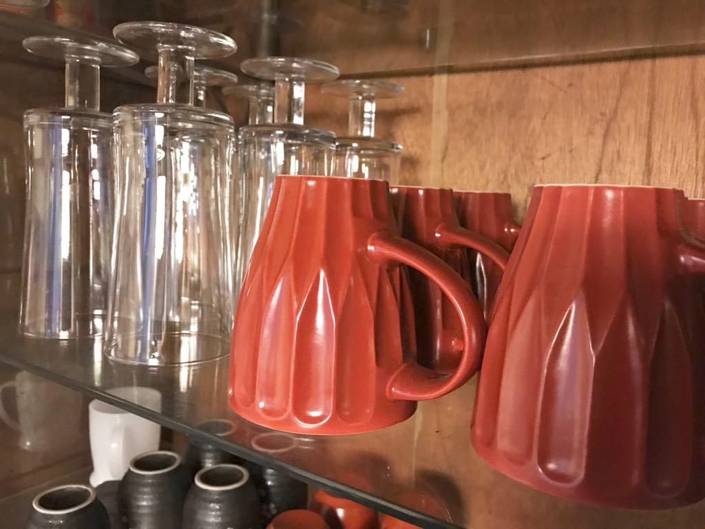 各種グラスやコップ完備