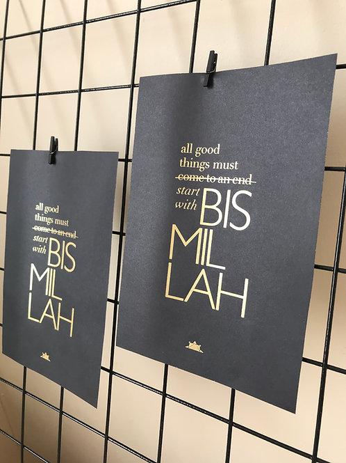 Start with Bismillah A5 Print