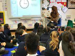 Author, Samia Quddus at Trinity Primary
