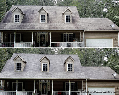 no pressure residential roof cleaning