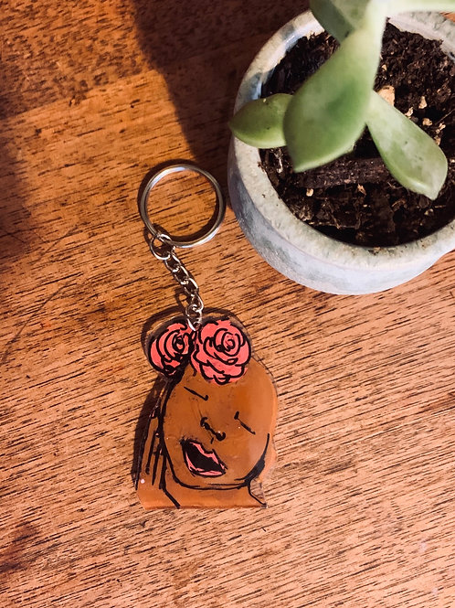 Lady Rose Keychain