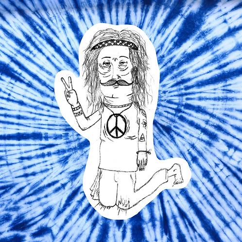 Peace Man Sticker