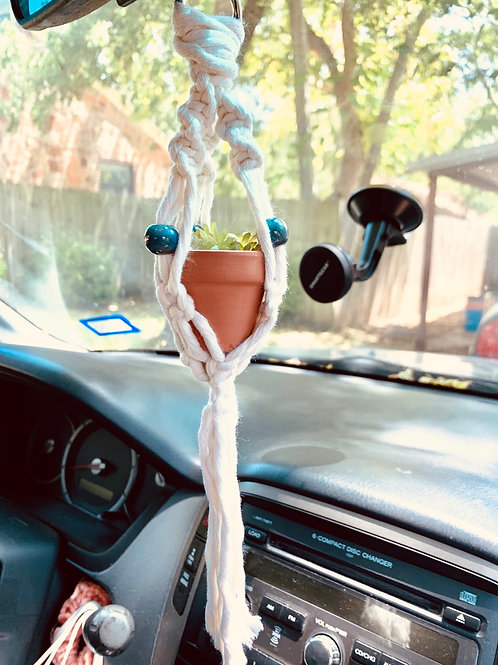 Macrame Car Hanger with Beads