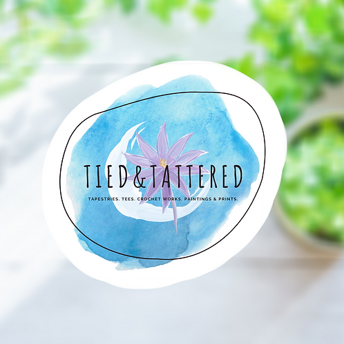 Tied&Tattered Logo Sticker