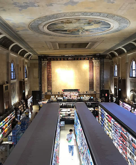 Teater transformeret til supermarked, Ve