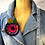 Thumbnail: Pink and Purple Designer Felted Applique Corsage