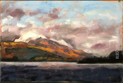 Loch Lomond from Firkin Point Greetings Card