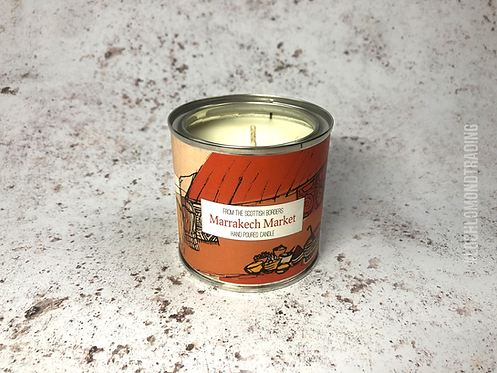 Marrakech Market Hand Poured Paint Tin Candle