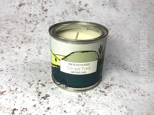 Gin and Tonic Hand Poured Paint Tin Candle