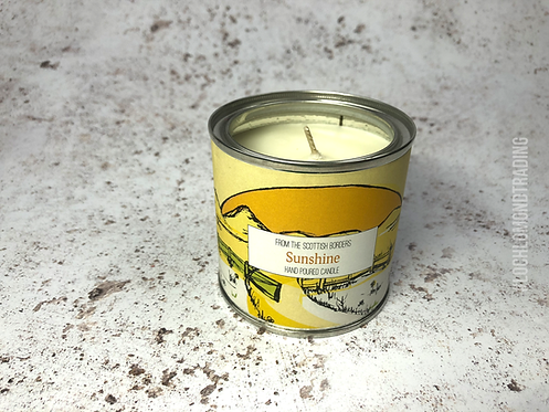 Sunshine Hand Poured Paint Tin Candle