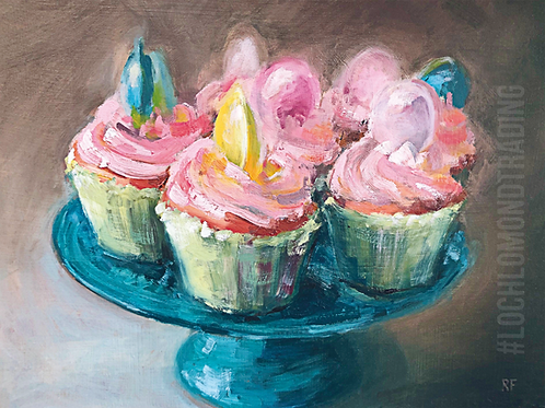 Fabulous Fairy Cakes from an oil painting by Rowena