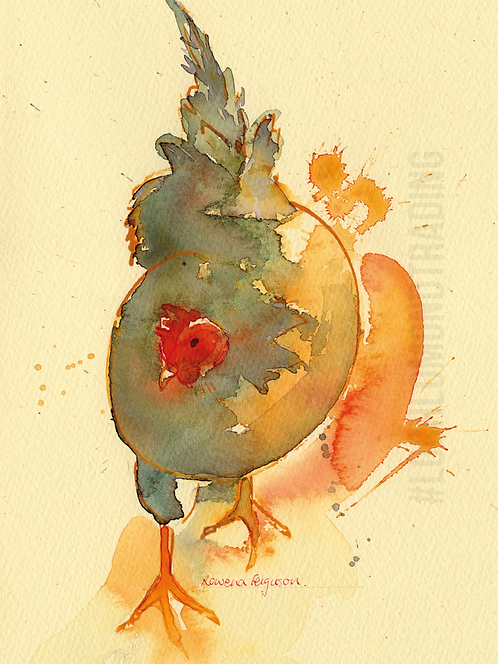 Hen on the Move Greetings Card