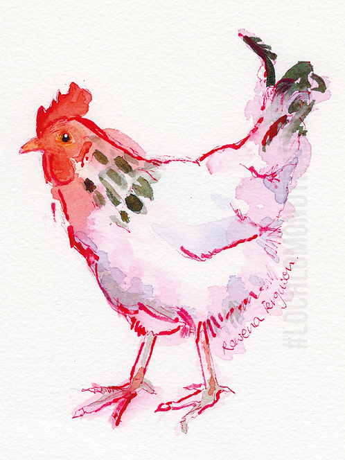 Betty...another hen Greetings Card by Rowena