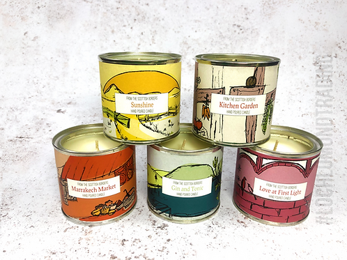 Hand Poured Paint Tin Candles