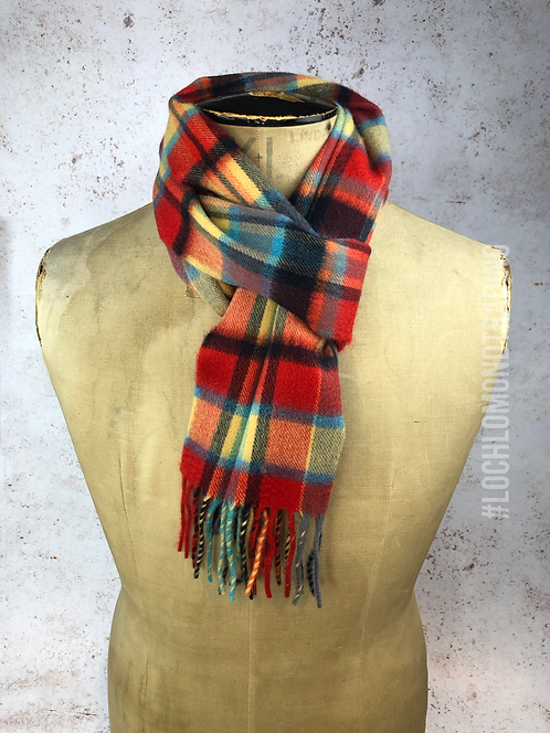 Meadow Red Cashmere Scarf