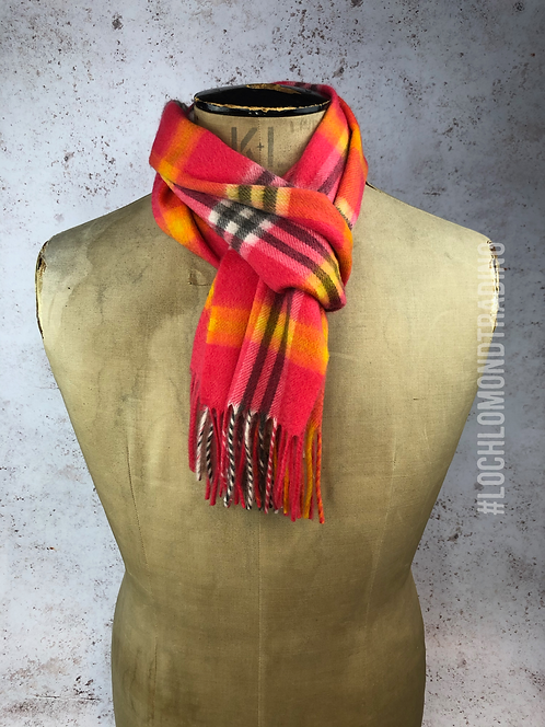 Pink and Orange Cashmere Scarf