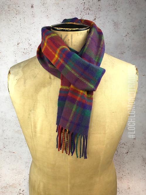 100% Wool Loch Lomond Tartan Scarf