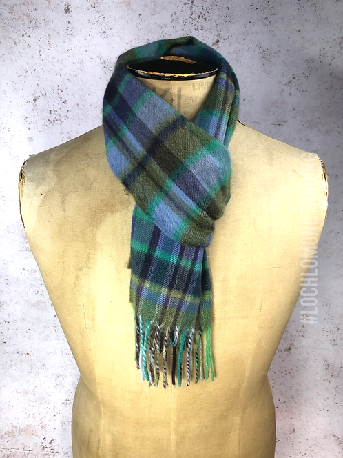 Lochside Blue & Turquoise Cashmere Scarf