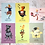 Thumbnail: Set of 6 Coach House Coffee Shop Character Postcards