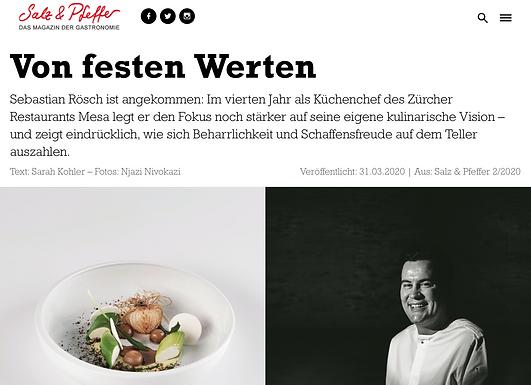 Von festen Werten / Salz & Pfeffer Magazin 2/20