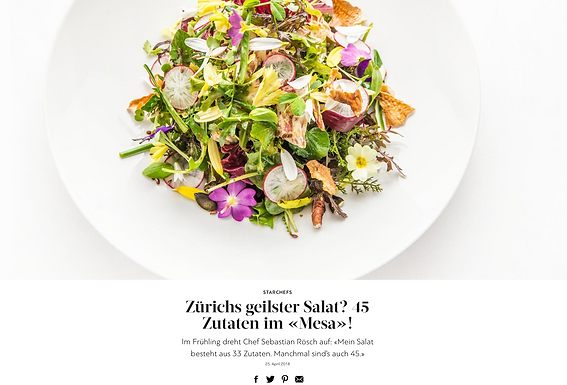 Zürichs geilster Salat? 45 Zutaten im «Mesa»! / GaultMillau.ch